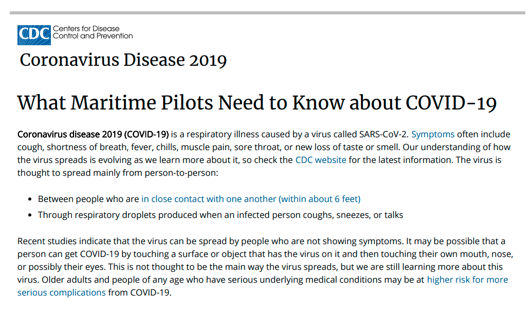 2020 CDC Guidelines